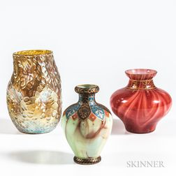 Three Loetz Art Glass Vases