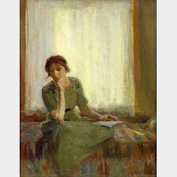 Ada W. Shulz (American, 1870-1928)    Window Seat