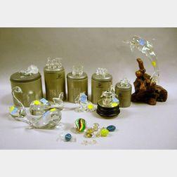 Twelve Collectible Glass Figures