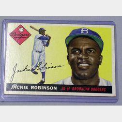1955 Topps Baseball Card No. 50 Jackie Robinson.