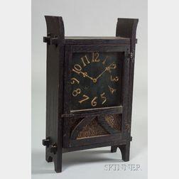 Arts & Crafts Mission Oak Shelf Clock