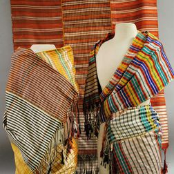 Three Traditional Woven Silk Sashes