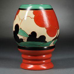 Clarice Cliff Red Autumn   Vase