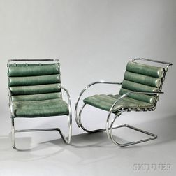 Pair of Mies van der Rohe MR Chairs
