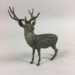 Modern Austrian Cold-painted Bronze Elk
