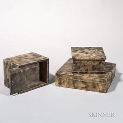 Three Smoke-decorated Boxes