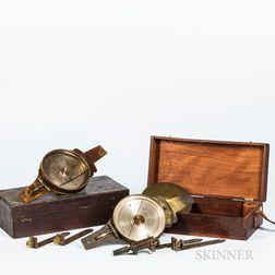 Two Edmund Draper Vernier Compasses
