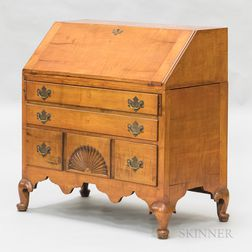 Queen Anne Red-stained Maple Slant-lid Desk