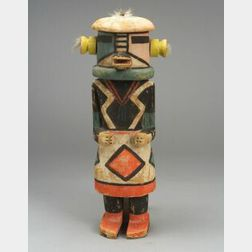 Large Polychrome Carved Wood Kachina