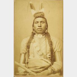Cabinet Card Photograph of Chief White Bull Shoshone (?), by F. Jay Haynes