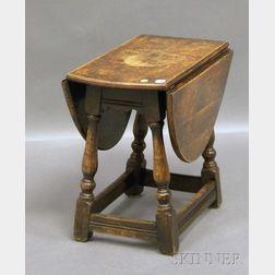 Diminutive William & Mary-style Oak Drop-leaf Table