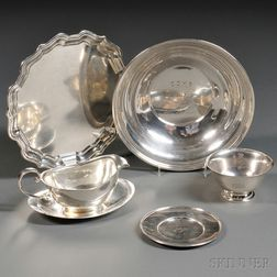 Six Pieces of American Sterling Silver Hollowware
