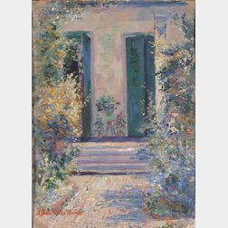 Anne Wells Munger (American, 1862-1945)      View of a Doorway, Possibly New Orleans