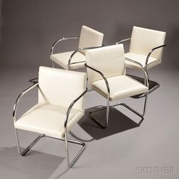 Four Mies van der Rohe BRNO Chairs