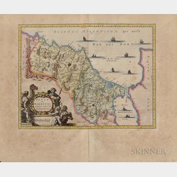 Engraved Map Morocco (Barbary Coast)