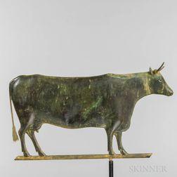 Molded Copper Cow Weathervane