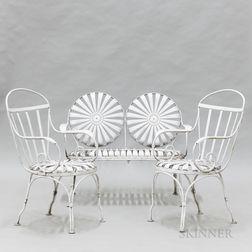 Three-piece Francois Carre Sunburst Spring Garden Suite