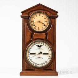 Ithaca No. 7 Shelf Cottage Calendar Clock