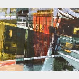 Lynn Ray (American, 20th/21st Century)      Boatyard Containers