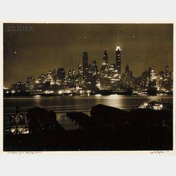 Carl Mydans (American, 1907-2004)      Manhattan from Brooklyn Heights.