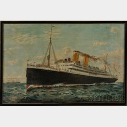 British/Canadian School, Early 20th Century      Portrait of the Steamship Empress of Ireland.