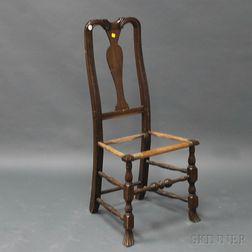Queen Anne Spanish-foot Side Chair