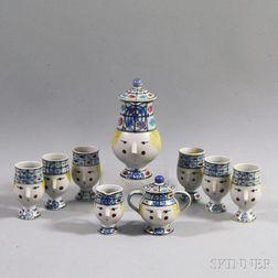 Vintage Bjorn Windblad Nine-piece Ceramic Tea Service