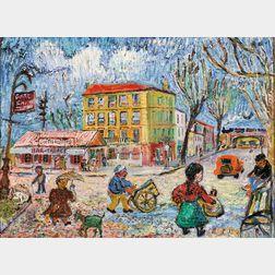 David Davidovich Burliuk (Ukrainian, 1882-1967)      House of Van Gogh