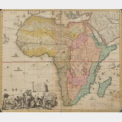 Engraved Map of Africa