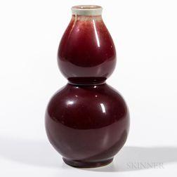 Flambe Double Gourd Vase