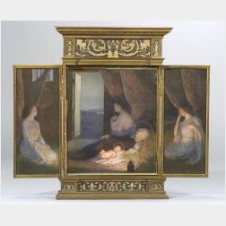 Albert Herter (American, 1871-1950)  Nativity Triptych