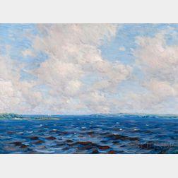 Charles Harold Davis (American, 1856-1933)      Clouds from the Sea / Newburyport