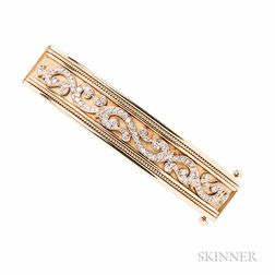 18kt Gold and Diamond Bracelet, Retailed by Shreve, Crump & Low