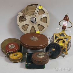 Nine Early Tape Measures