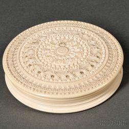 Ornamentally Turned Ivory Casket