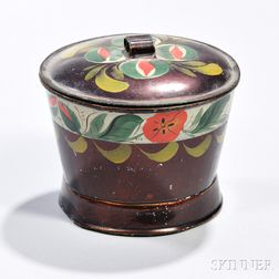 Paint-decorated Tin Covered Sugar