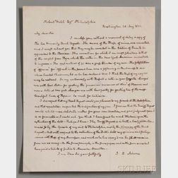 Adams, John Quincy (1767-1848) Autograph Letter Signed, Washington, D.C., 28 May 1832.
