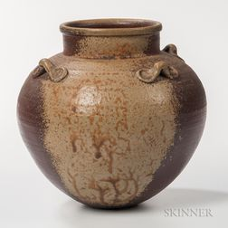Michael Marcus Yakishime Studio Pottery Fresh Water Jar
