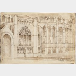 Stocker, R.C.S. (active 1840) Original English Architectural Sketchbook, 1840s.