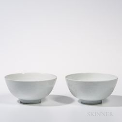 Two White-glazed Bowls