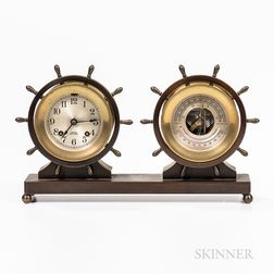 Chelsea Yacht Wheel Clock and Barometer Set