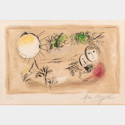 Marc Chagall (Russian/French, 1887-1985)      Le repos