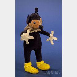 Early Knickerbocker Stuffed Velveteen Mickey Mouse