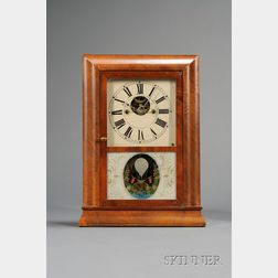 Miniature Mahogany Reverse Ogee Clock by S.B. Terry