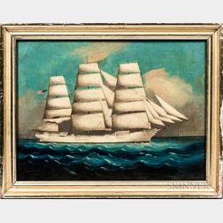 American School, Late 19th Century      Portrait of the Ship Paul Jones
