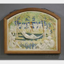 Della Robbia Pottery Molded Wall Plaque
