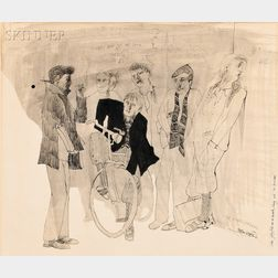 Toer van Schayk (Dutch, b. 1936)      Costume Design for Monument for a Dead Boy