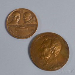 Two Bronze Commemorative Medals