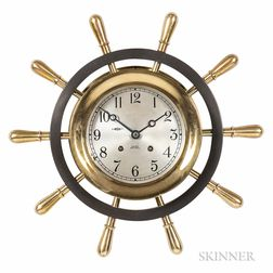 Chelsea Brass and Bronze Yacht Wheel Wall Clock