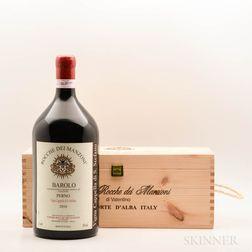 Podere Rocche dei Manzoni Barolo Perno Vigna Cappella di Stefano 2010, 1 3 liter bottle (owc)